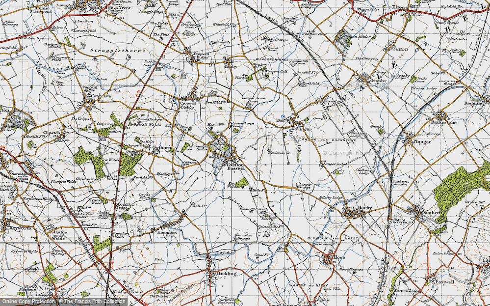 Old Map of Colston Bassett, 1946 in 1946
