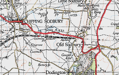 Old map of Colt's Green in 1946