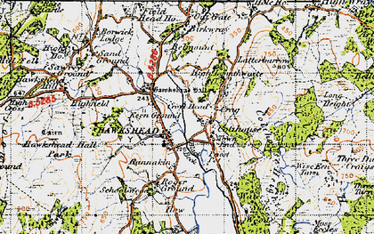 Old map of Colthouse in 1947