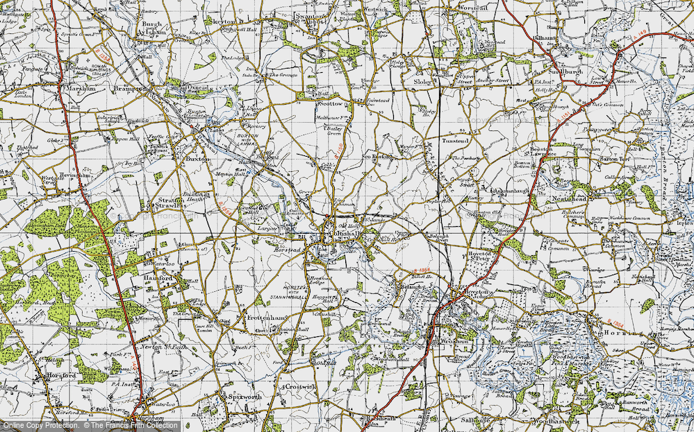Old Map of Coltishall, 1945 in 1945