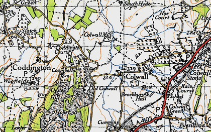 Old map of Colwall in 1947