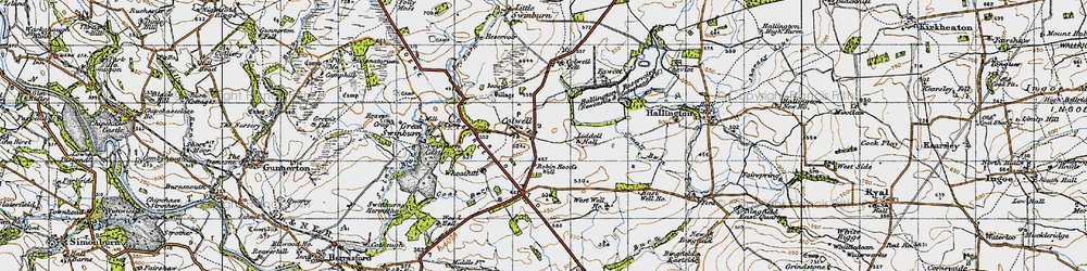 Old map of Colwell in 1947