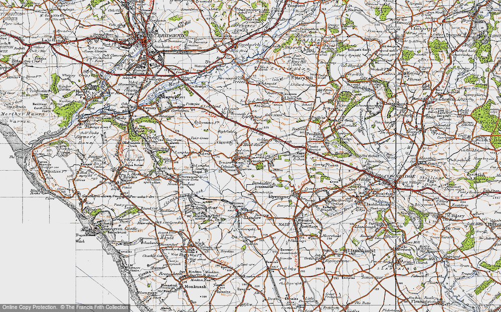 Old Map of Colwinston, 1947 in 1947