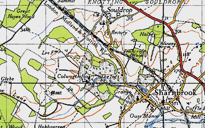 Old map of Tofte Manor in 1946