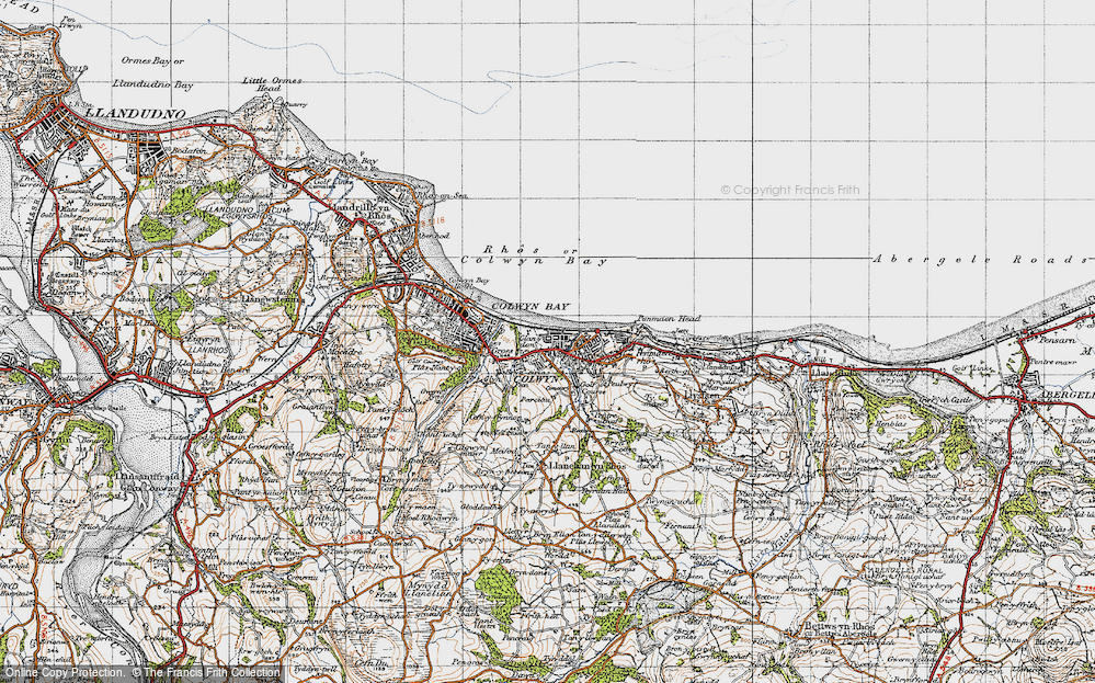 Old Map of Colwyn Bay, 1947 in 1947