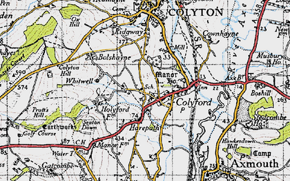 Old map of Colyford in 1946