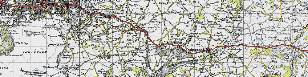Old map of West Sherford in 1946
