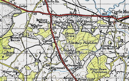 Old map of Windmill Barrow in 1940