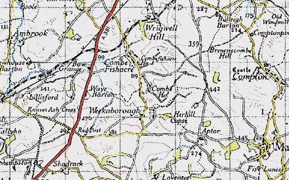 Old map of Wrigwell Hill in 1946