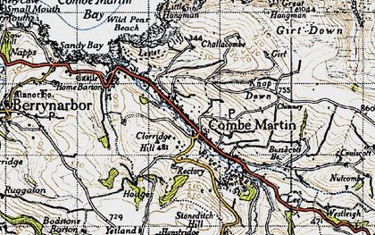 Old map of Wild Pear Beach in 1946