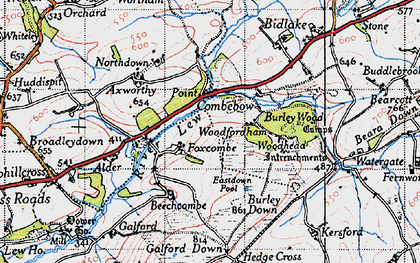 Old map of Axworthy in 1946