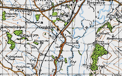 Old map of Limecrofts in 1946