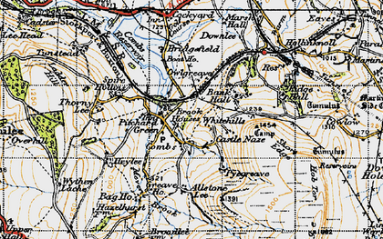 Old map of Allstone Lee in 1947