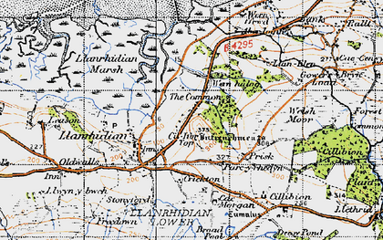 Old map of Common, The in 1946