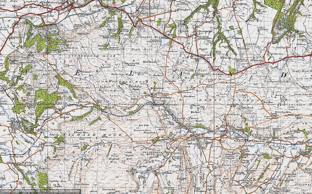 Old Map of Commondale, 1947 in 1947
