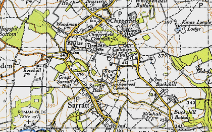Old map of Commonwood in 1946