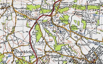 Old map of Compton in 1940