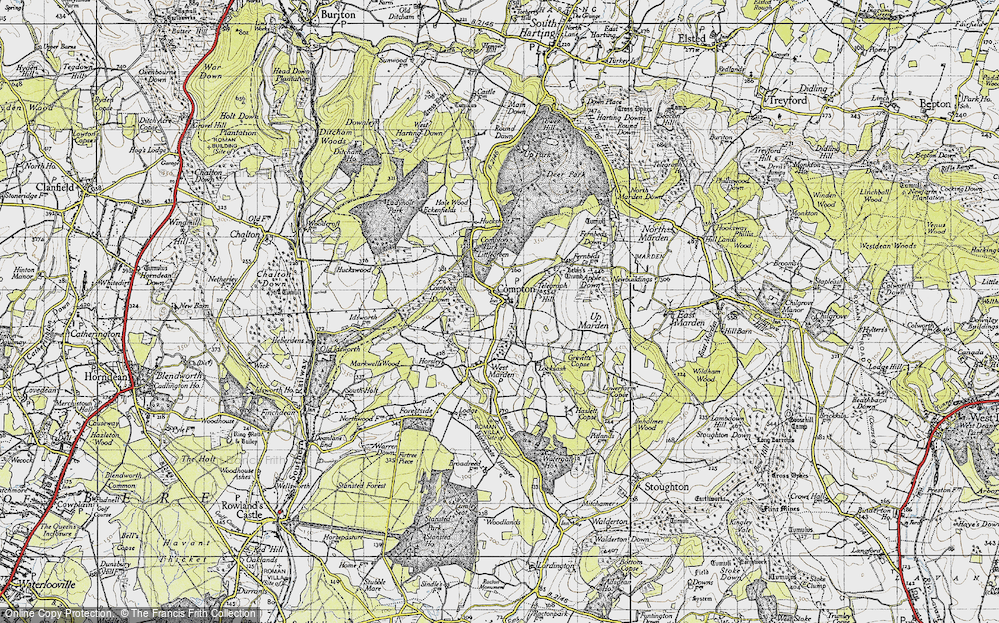Old Map of Compton, 1945 in 1945