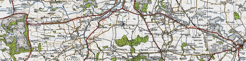 Old map of West Woods in 1947