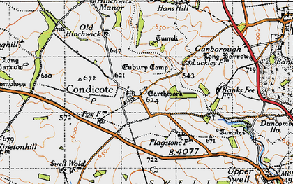 Old map of Condicote in 1946
