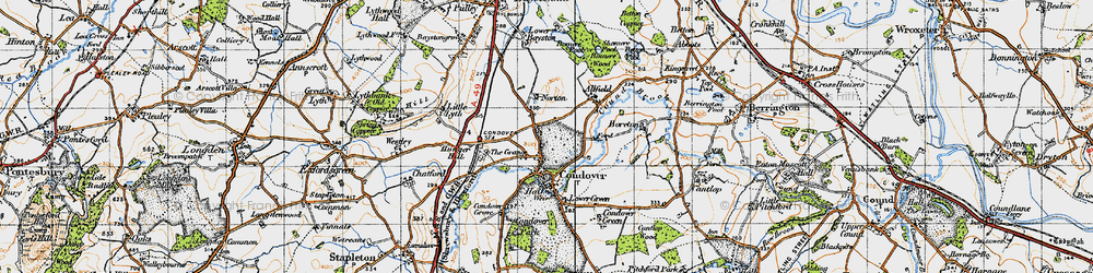 Old map of Allfield in 1947
