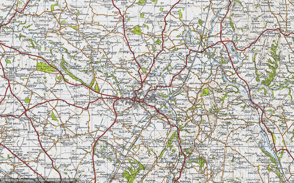 Old Map of Congleton, 1947 in 1947