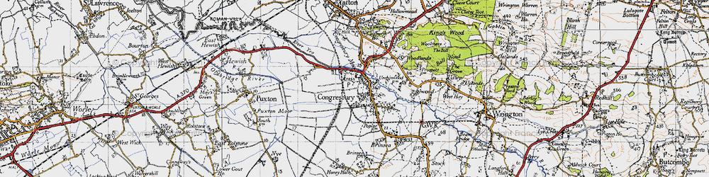 Old map of Congresbury in 1946