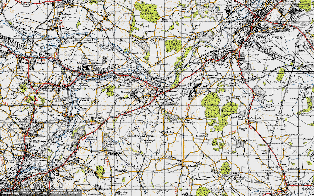 Old Map of Conisbrough, 1947 in 1947