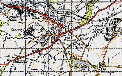 Old map of Conisbrough in 1947