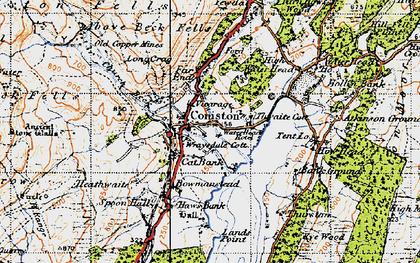 Old map of Coniston in 1947