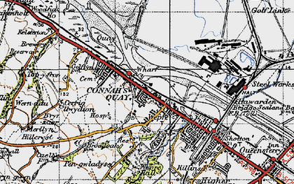 Old map of Connah's Quay in 1947