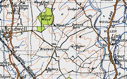 Old map of Conniburrow in 1946