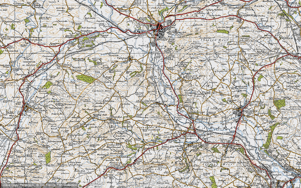 Old Map of Cononley, 1947 in 1947