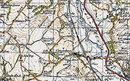 Old map of Cononley in 1947
