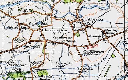 Old map of Tibberton Grange in 1947