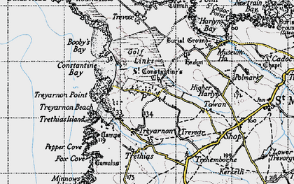 Old map of Constantine Bay in 1946