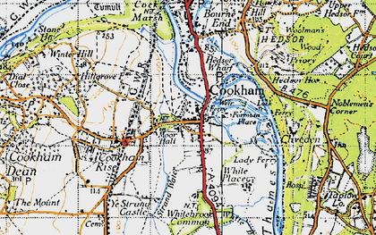 Old map of Widbrook Common in 1945