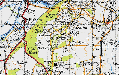 Old map of Cookham Dean in 1947