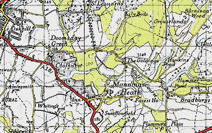 Old map of Lily Beds in 1940