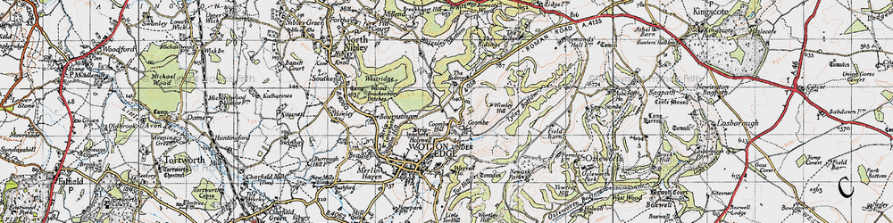 Old map of Wimley Hill in 1946