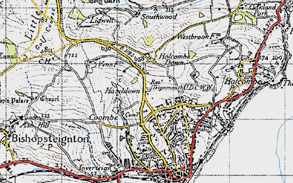 Old map of Westbrook in 1946