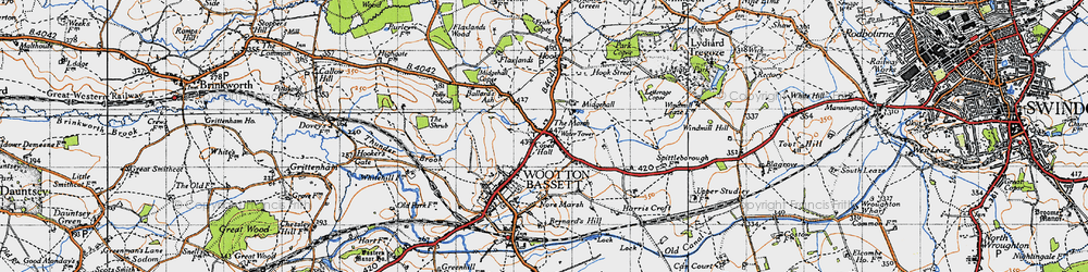 Old map of Woodshaw in 1947