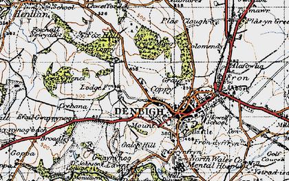 Old map of Copenhagen in 1947
