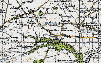 Old map of Wheatley Wood in 1947