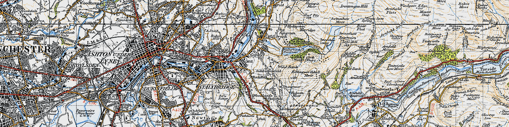 Old map of Wild Bank in 1947