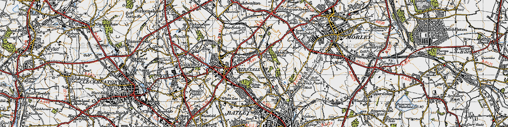 Old map of Wilton Park in 1947