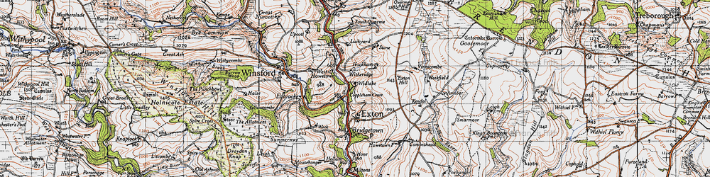 Old map of Widlake in 1946
