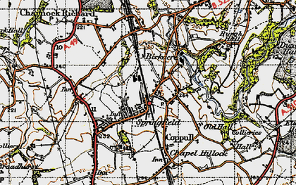 Old map of Coppull in 1947