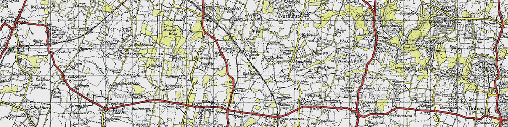 Old map of Alicelands in 1940