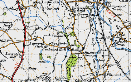Old map of Lapworth Park in 1947